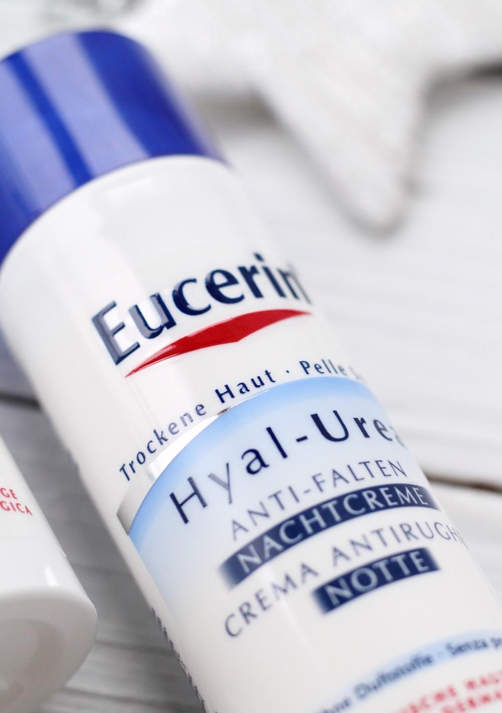 Eucerin Hyal Urea Antifalten Nachtcreme trockene Haut