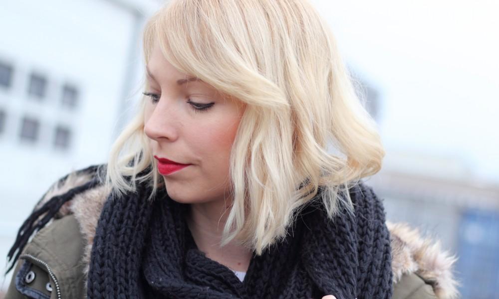 Fashionbloggeri Karlsruhe Outfit Parka Zara Sneaker Deichmann Jeans Sweater Schal 12