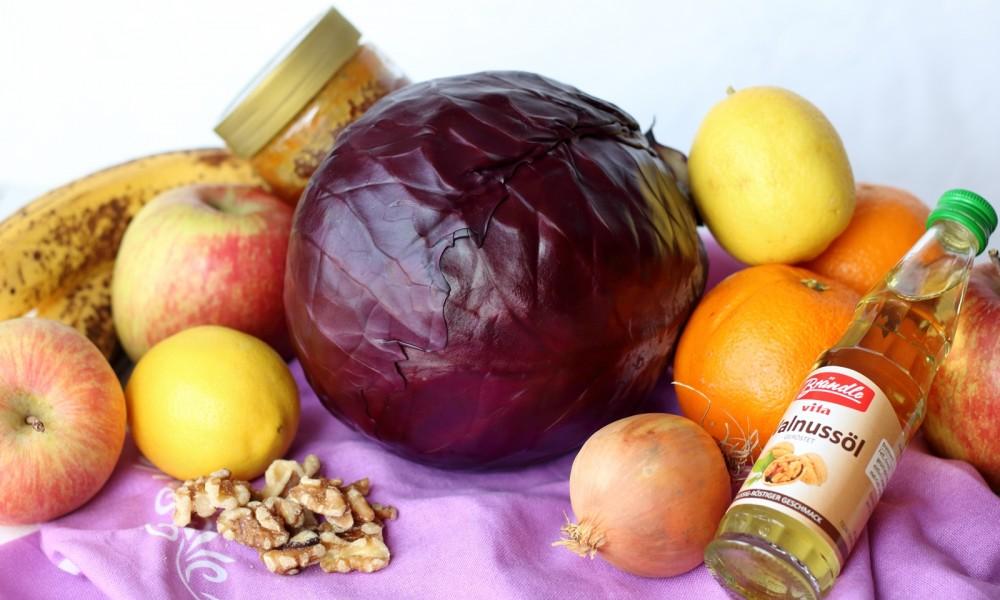 Fruchtiger Rotkohlsalat Zutaten