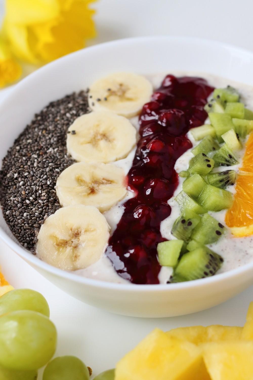 Healthy Breakfast Frühstück Obst Chiasamen 11