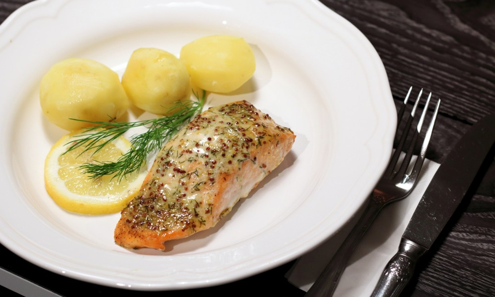 Lachs in Senf Dill Sauce000007