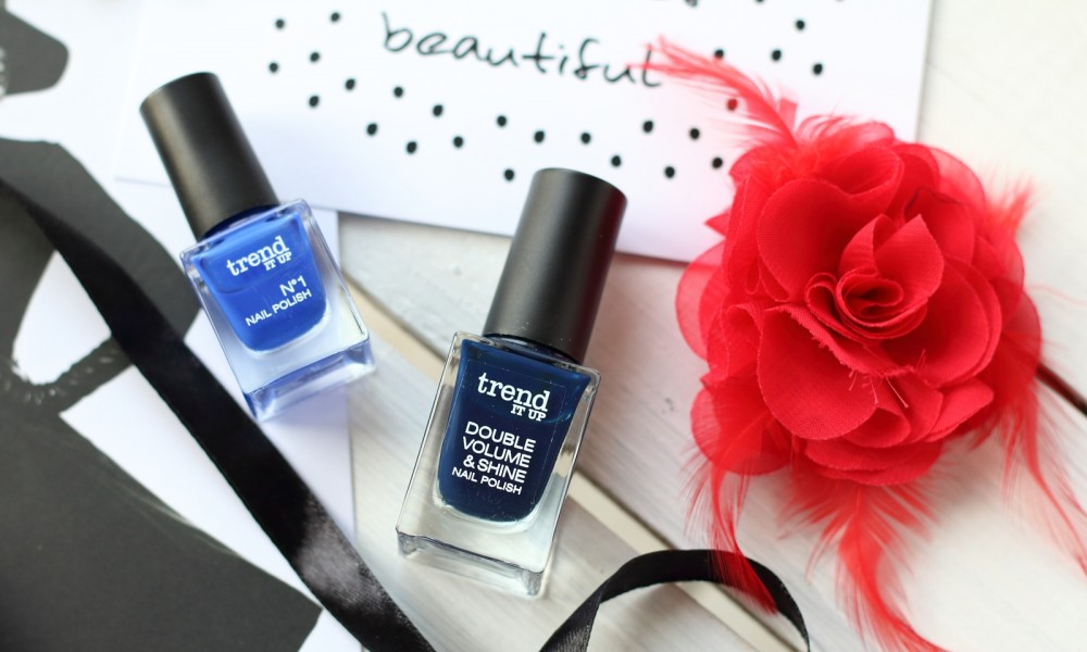 Trend it up Box No 1 Double Volume and Shine Nailpolish Nagellack blau