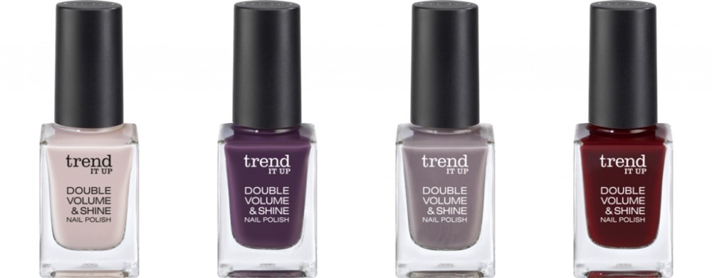 Trend it up Neuheiten Double Volume and Shine Nailpolish 290 320 310 340