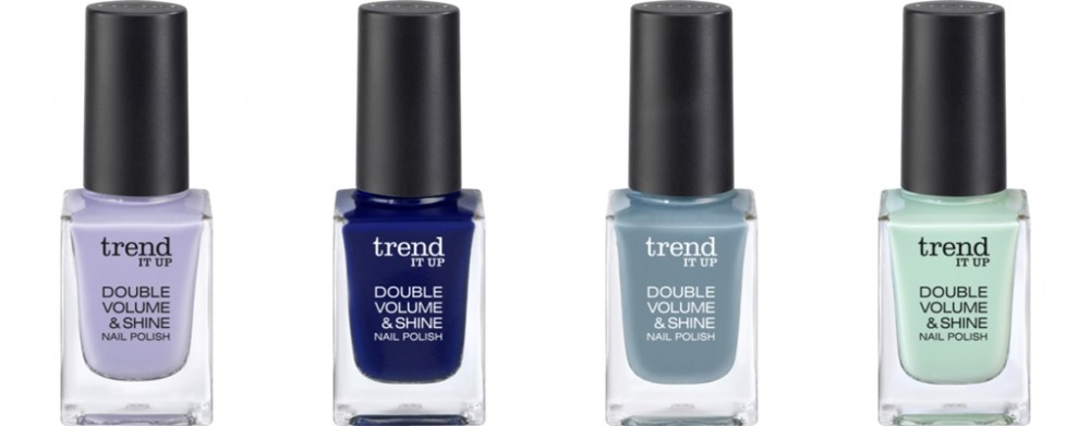 Trend it up Neuheiten Double Volume and Shine Nailpolish 400 370 360 390