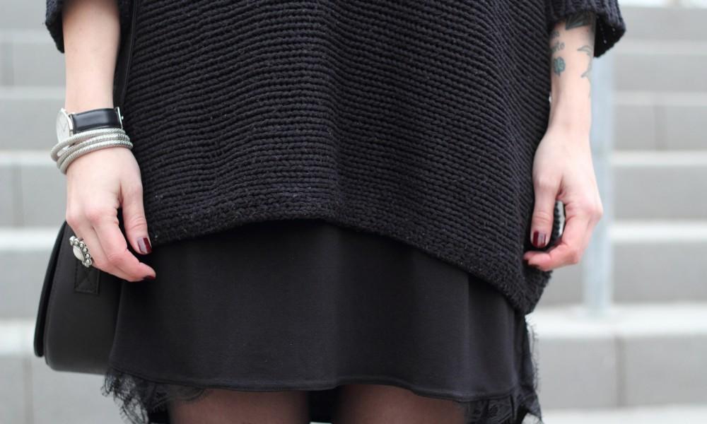 Outfit Stiefeletten Fransen Sacha Kleid Mango Sweater Noisy May Bakermütze 1 (11)