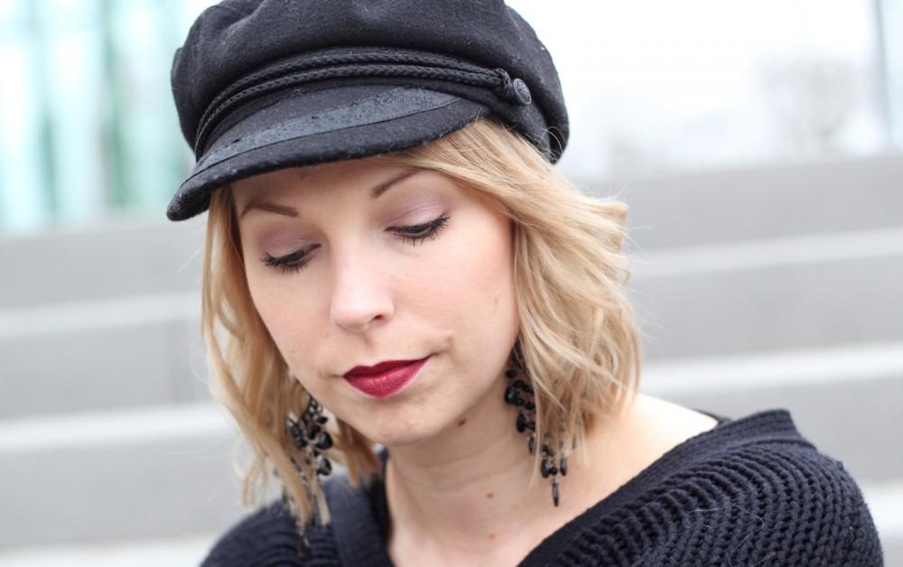 Outfit Stiefeletten Fransen Sacha Kleid Mango Sweater Noisy May Bakermütze 1 (7)