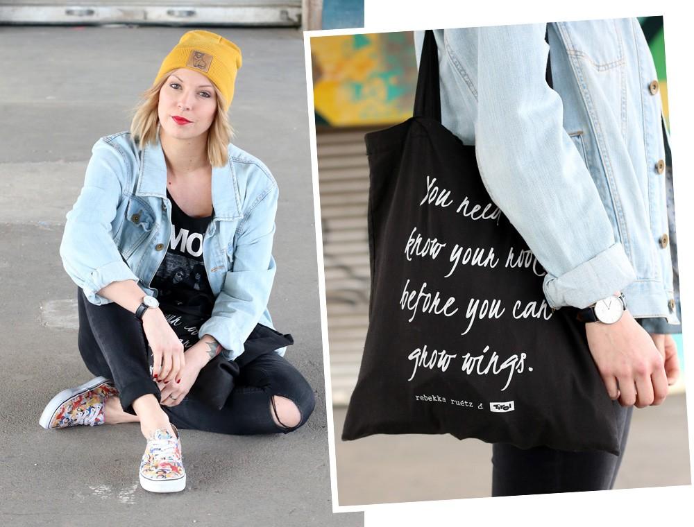 Fahionblogger Outfit Vans Disney Jeansjacke Beanie Fuchs Weebit (18)