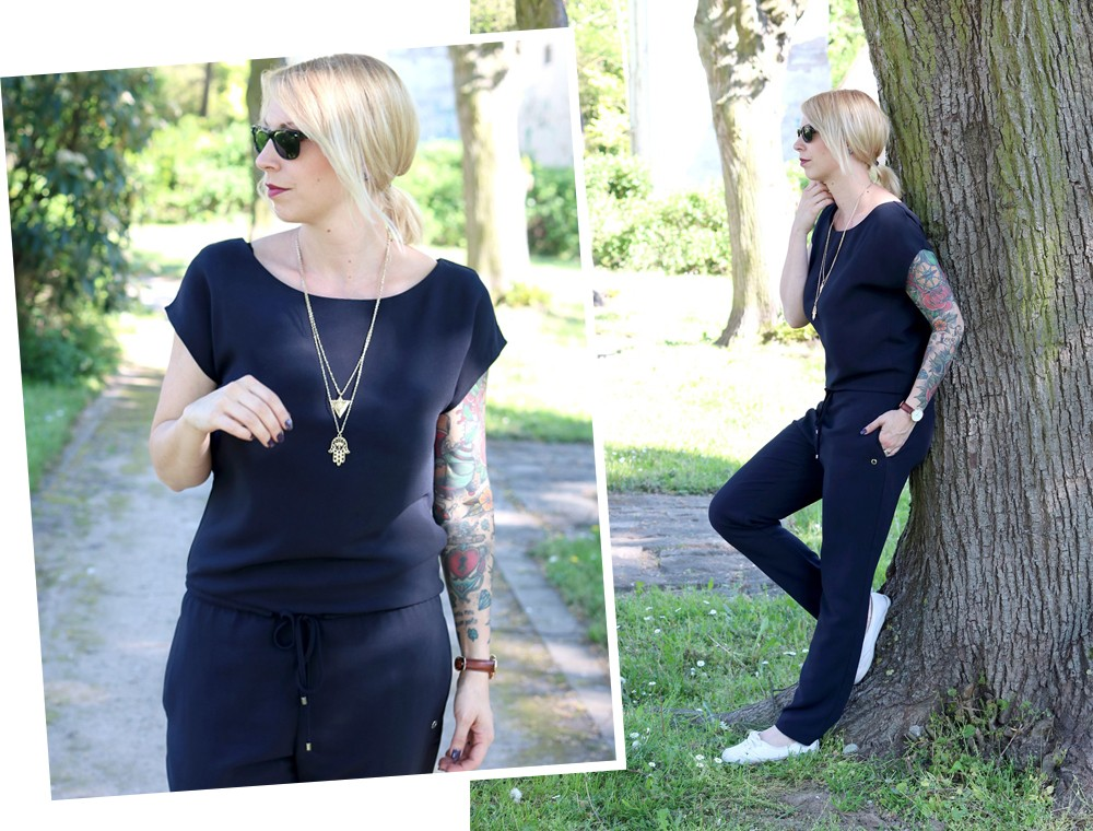 Fashionbloggerin Karlsruhe Outfit Jumpsuit Aldi Jette Joop Daniel Wellington Dapper (3)