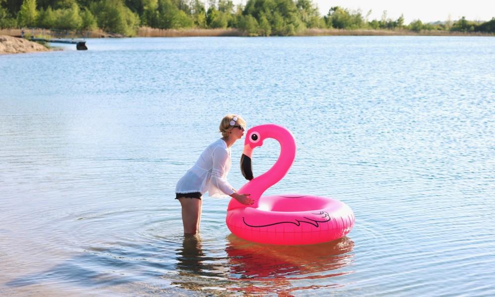 Flamingoschwimmring Donutstrandtuch Accessoires See Strand Radbag (11)