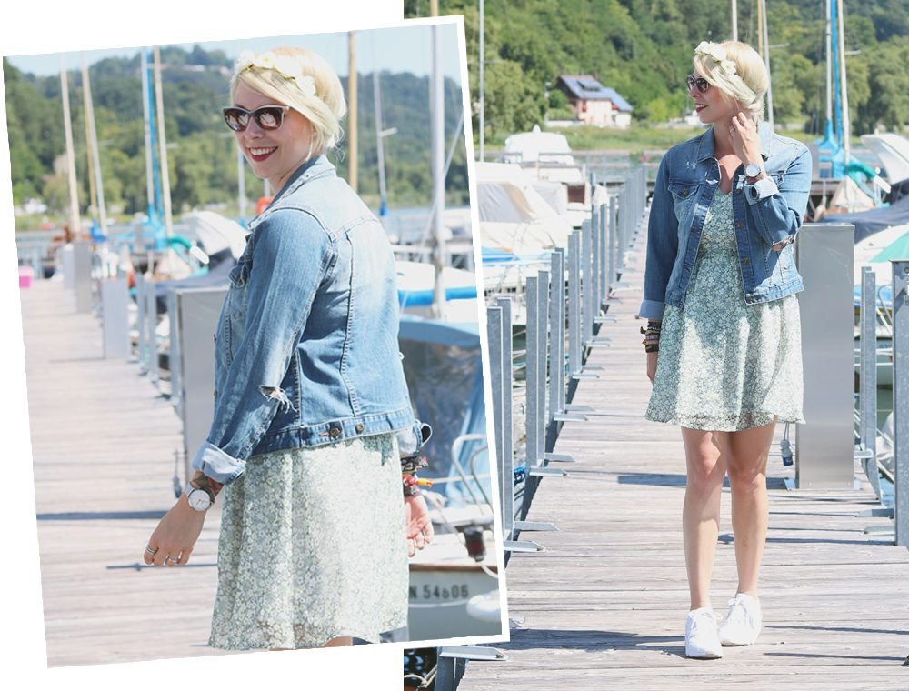 Fashionblogger Outfit Bodensee Blümchenkleid Jeansjacke Nike Air Max Sonnenbrille Gerry Weber (18)