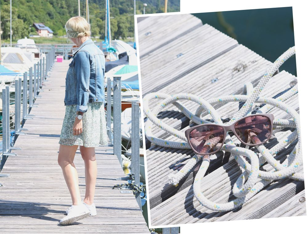 Fashionblogger Outfit Bodensee Blümchenkleid Jeansjacke Nike Air Max Sonnenbrille Gerry Weber (19)