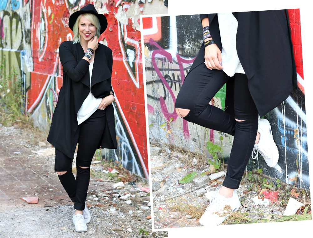 Lost Places Berlin Fashionblogger Outfit Jeans weisse Sneaker Deichmann schwarzer Mantel (25)