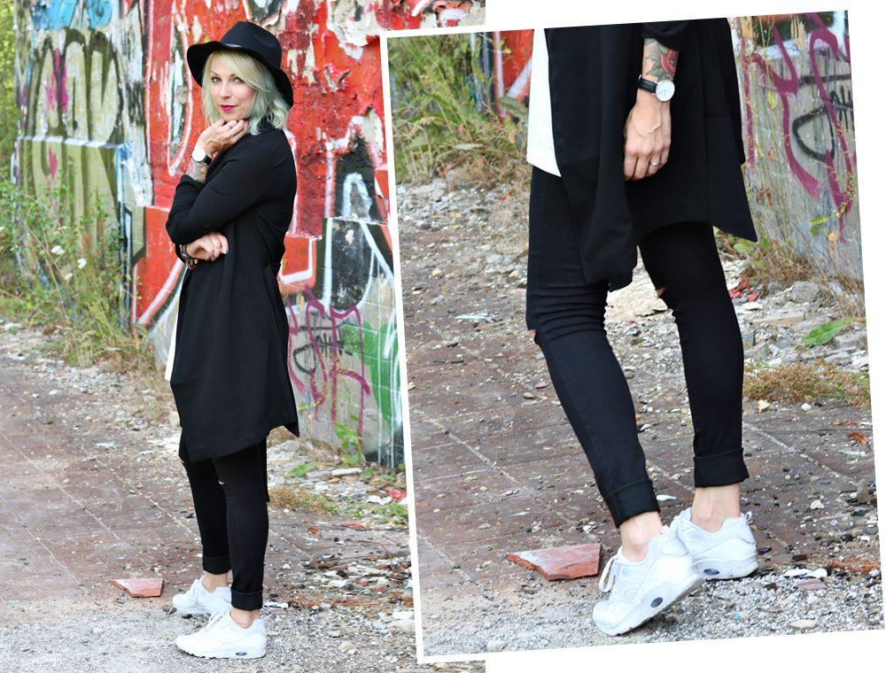 Lost Places Berlin Fashionblogger Outfit Jeans weisse Sneaker Deichmann schwarzer Mantel (27)