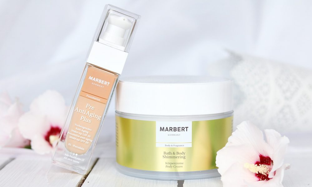Marbert Bath and Body Shimmering Körpercreme Pre Anti Aging Plus Foundation
