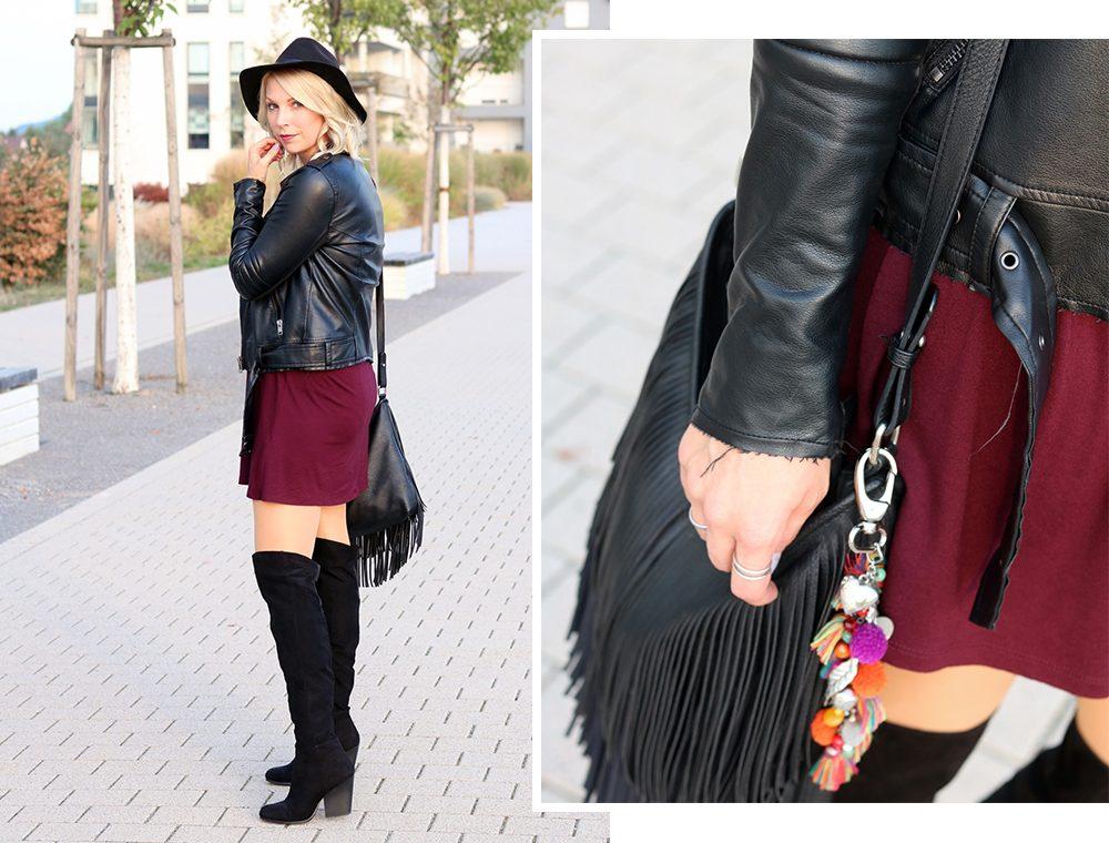 fashionblogger-outfit-karlsruhe-kleid-bordeaux-schwarze-overknees-hut-lederjacke-fransentasche-91