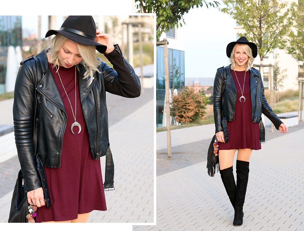 fashionblogger-outfit-karlsruhe-kleid-bordeaux-schwarze-overknees-hut-lederjacke-fransentasche-92