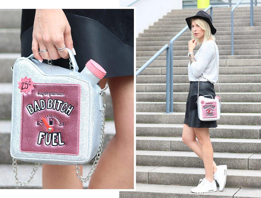 Fashionblogger Outfit Lederrock Zara Hut weisse Sneaker Nike Bad Bitch Fuel Tasche Asos (13)