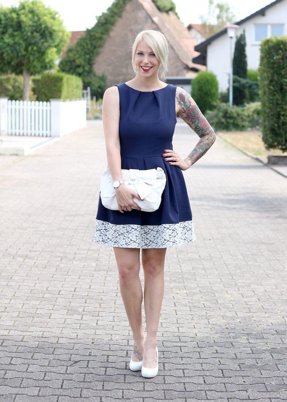 Kleid dunkelblau zalando