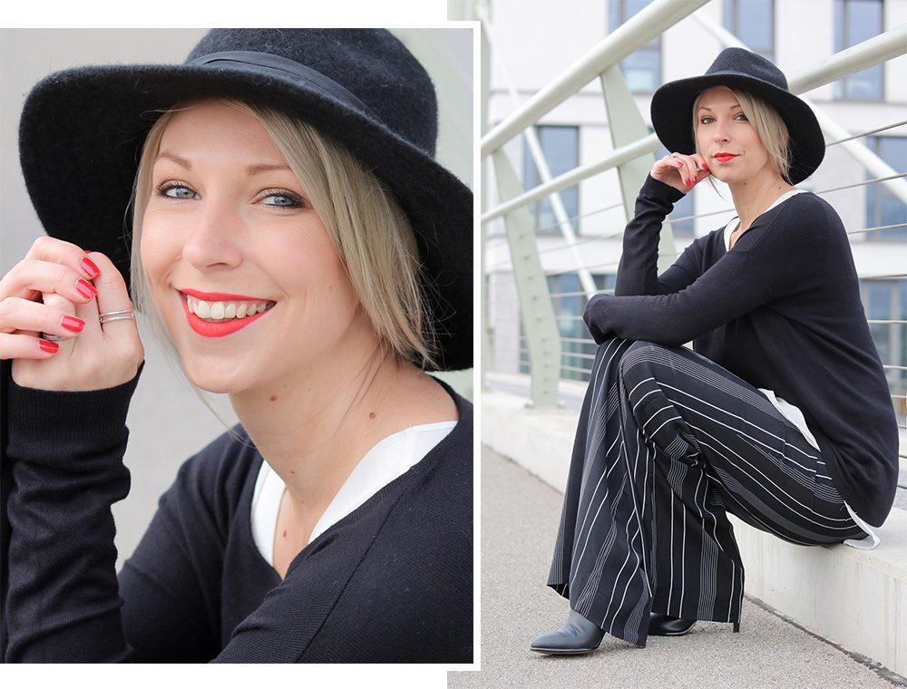 fashionblogger-outfit-palazzohose-streifen-mango-sweater-hut-1