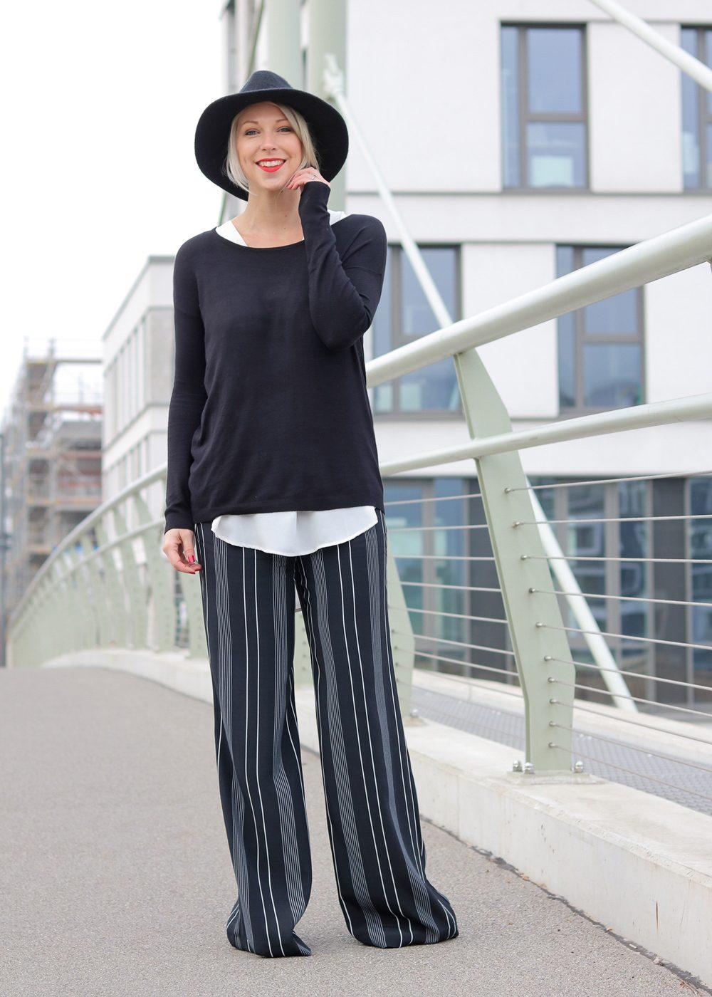 fashionblogger-outfit-palazzohose-streifen-mango-sweater-hut-1-von-17