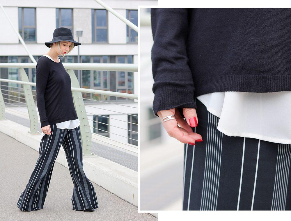 fashionblogger-outfit-palazzohose-streifen-mango-sweater-hut-2
