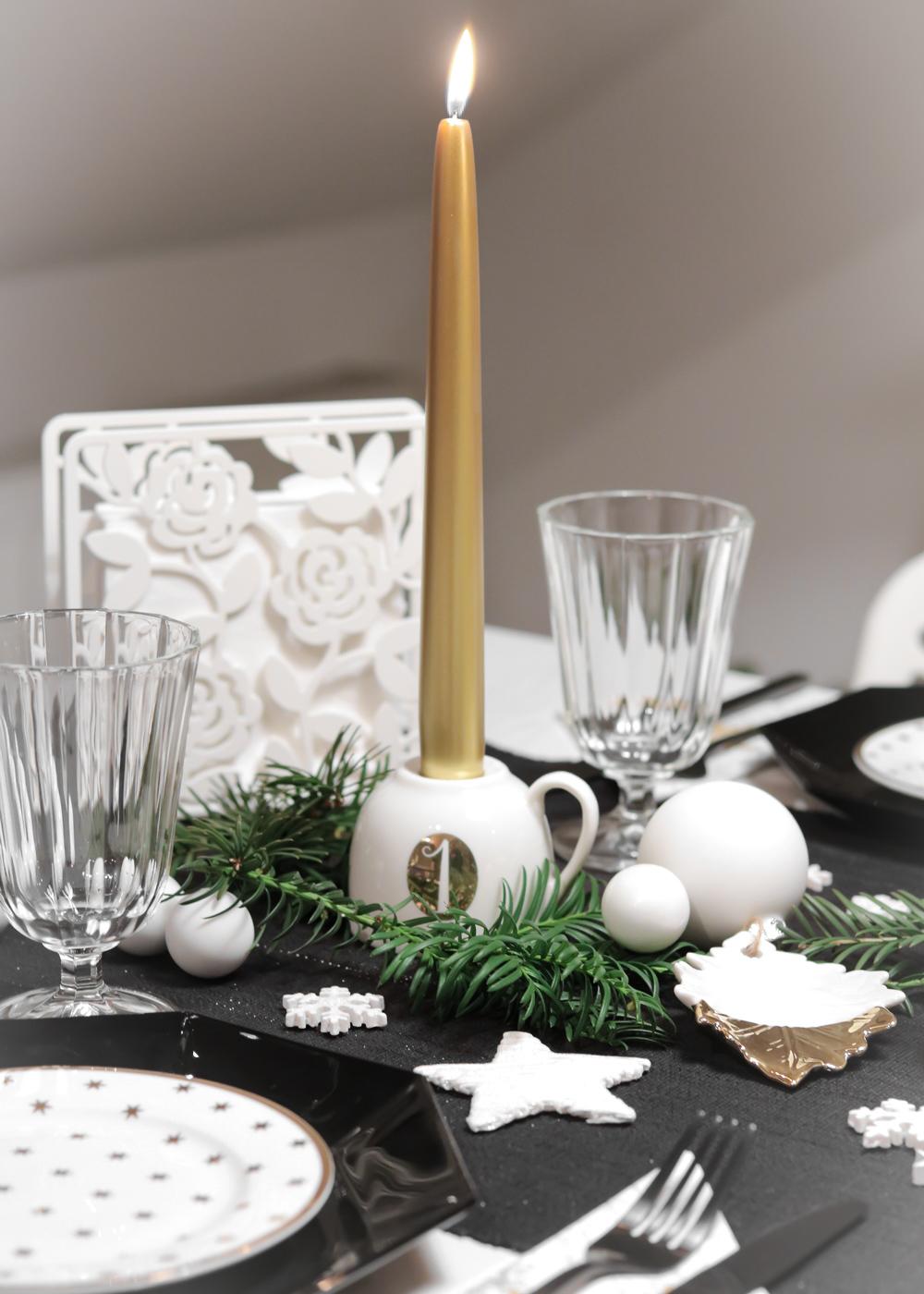 Ediths Weihnachten Tischdekoration Advent Schwarzes Besteck Teller Gold Sterne 3 Lavie Deboite