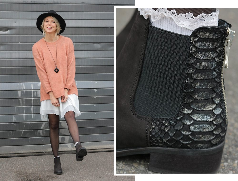fashionblogger-outfit-ankle-boots-shoemates-rosa-strickpullover-zara-lagenlook-1
