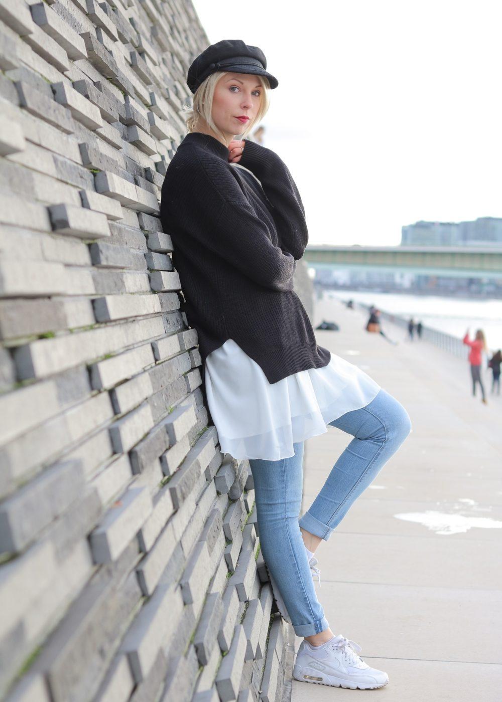 modeblogger-karlsruhe-outfit-herbst-kleid-vero-moda-rostrot-schwarzer-mantel-overknees-hut-11-von-29