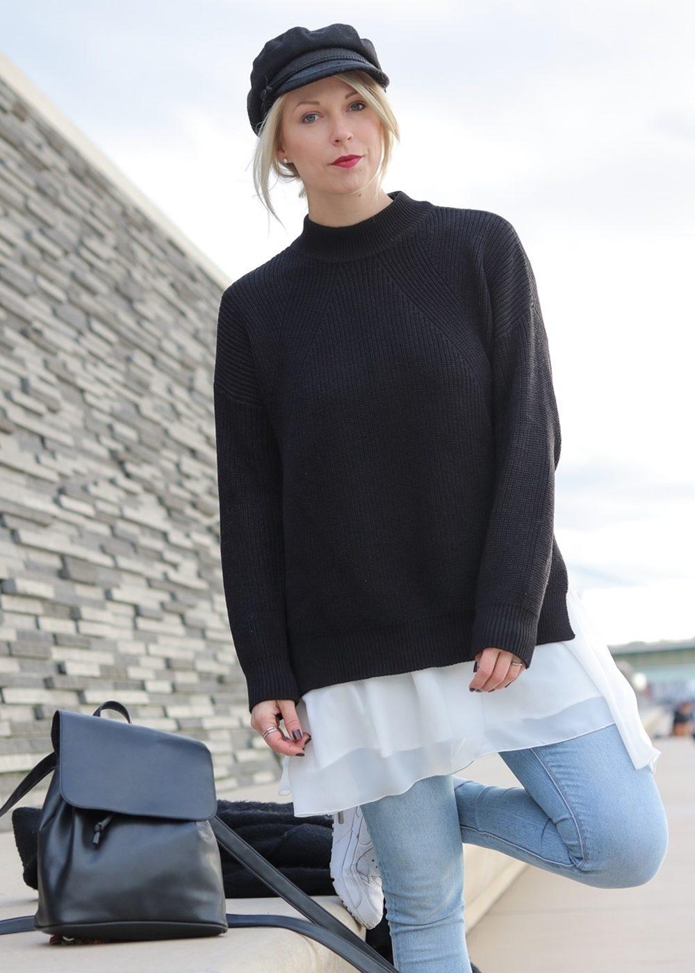 modeblogger-karlsruhe-outfit-herbst-kleid-vero-moda-rostrot-schwarzer-mantel-overknees-hut-8-von-29