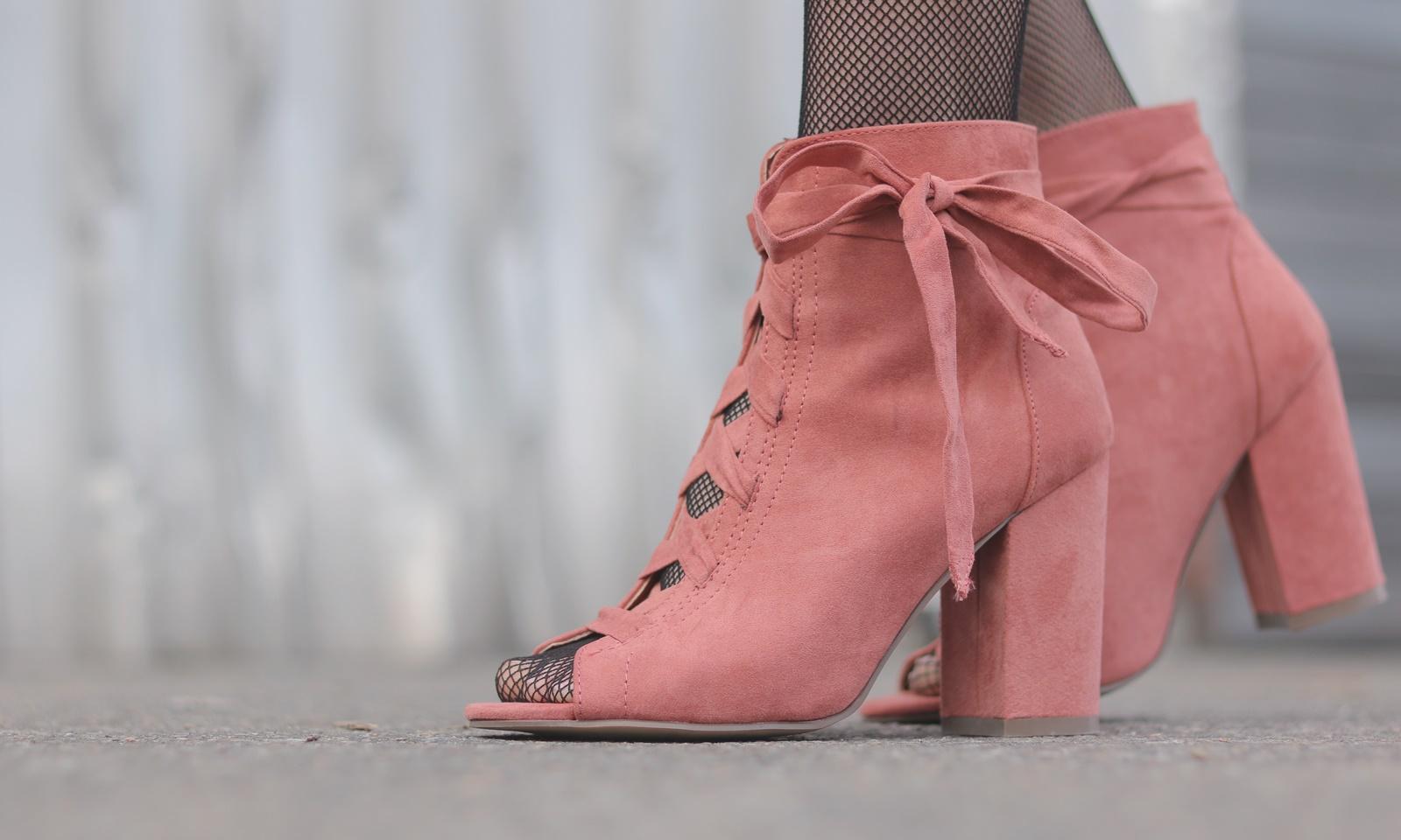 Schnüren Stiefeletten Rosa Zum Outfit Justfab Modeblogger LqSUMVzGp