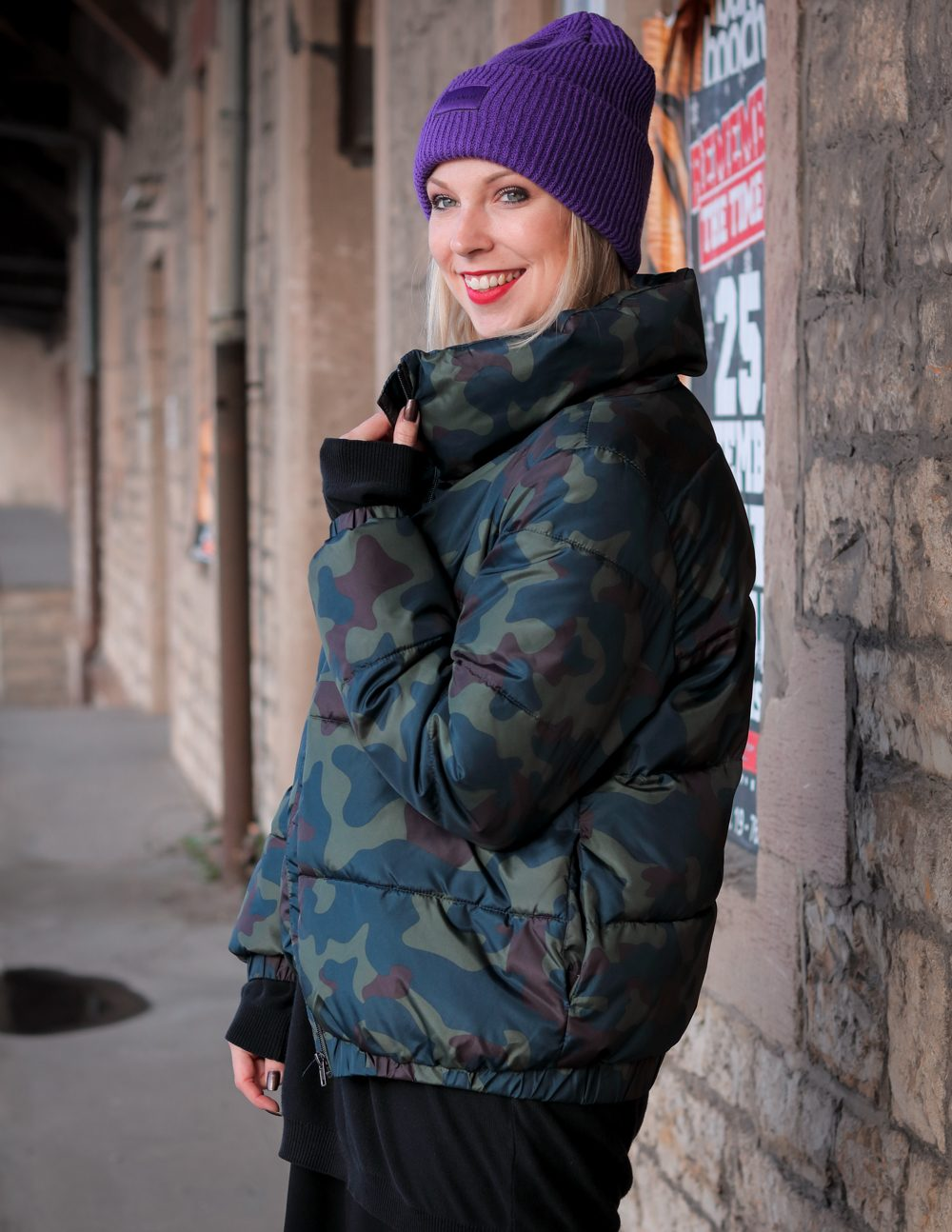 Steppjacke Jakes Camouflage Winter Outfit