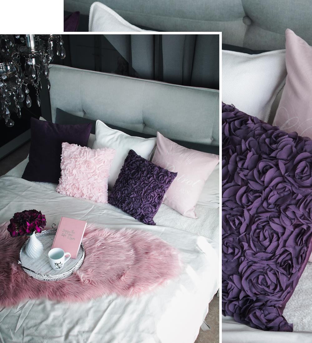 Schlafzimmer Interior Einrichtung Grau Rosa Lila Boxspringbett Otto Wohnideen 4 Lavie Deboite