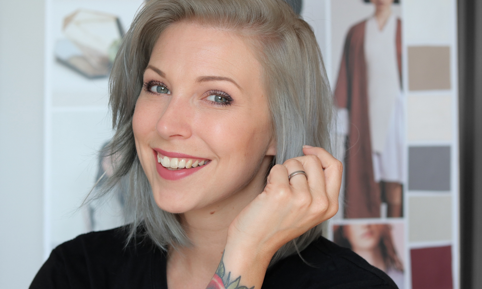 Color Freedom Silver Blonde Vorher Nachher Coloring Wall