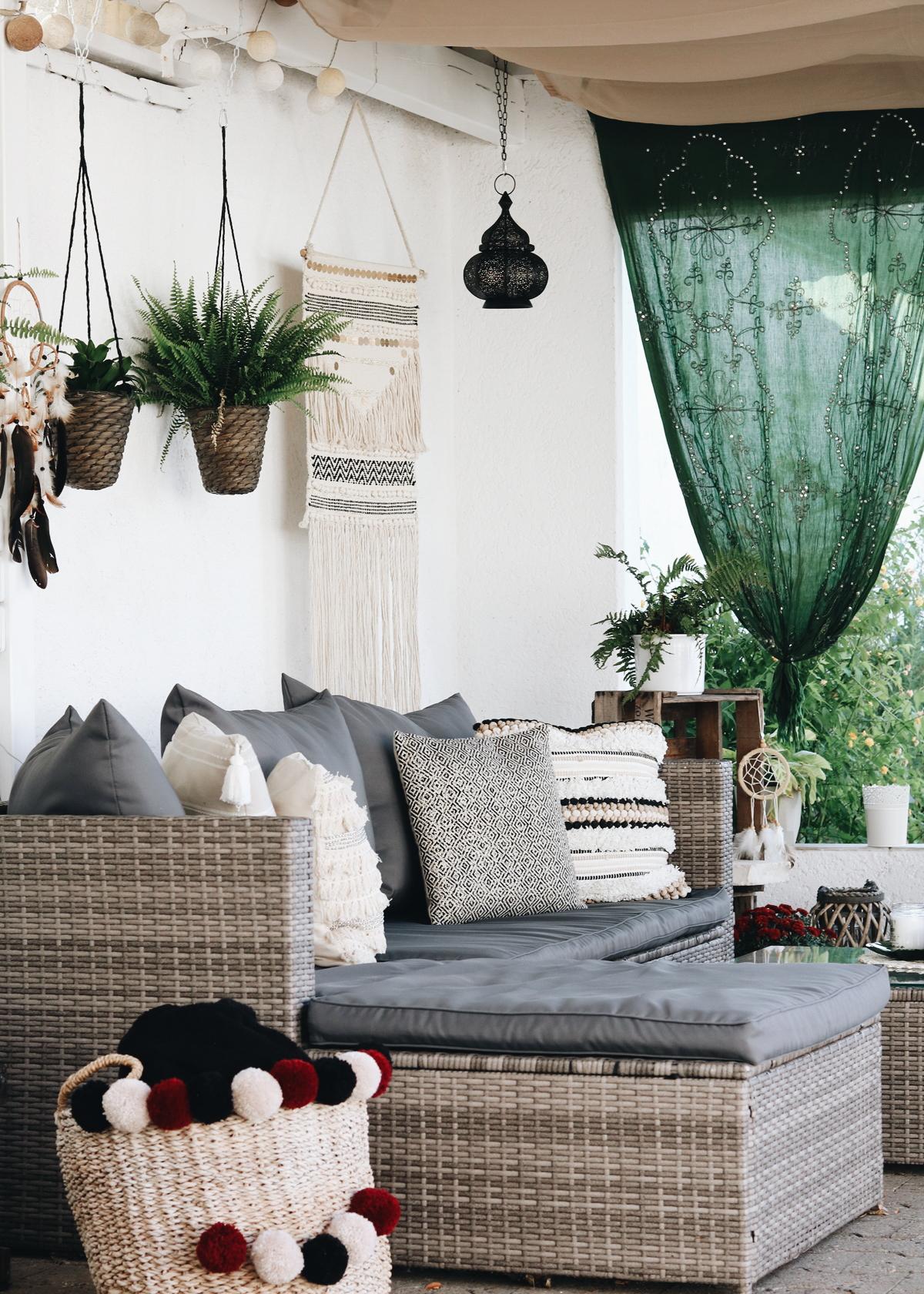 meine veranda im boho style ideen f r den garten lavie. Black Bedroom Furniture Sets. Home Design Ideas