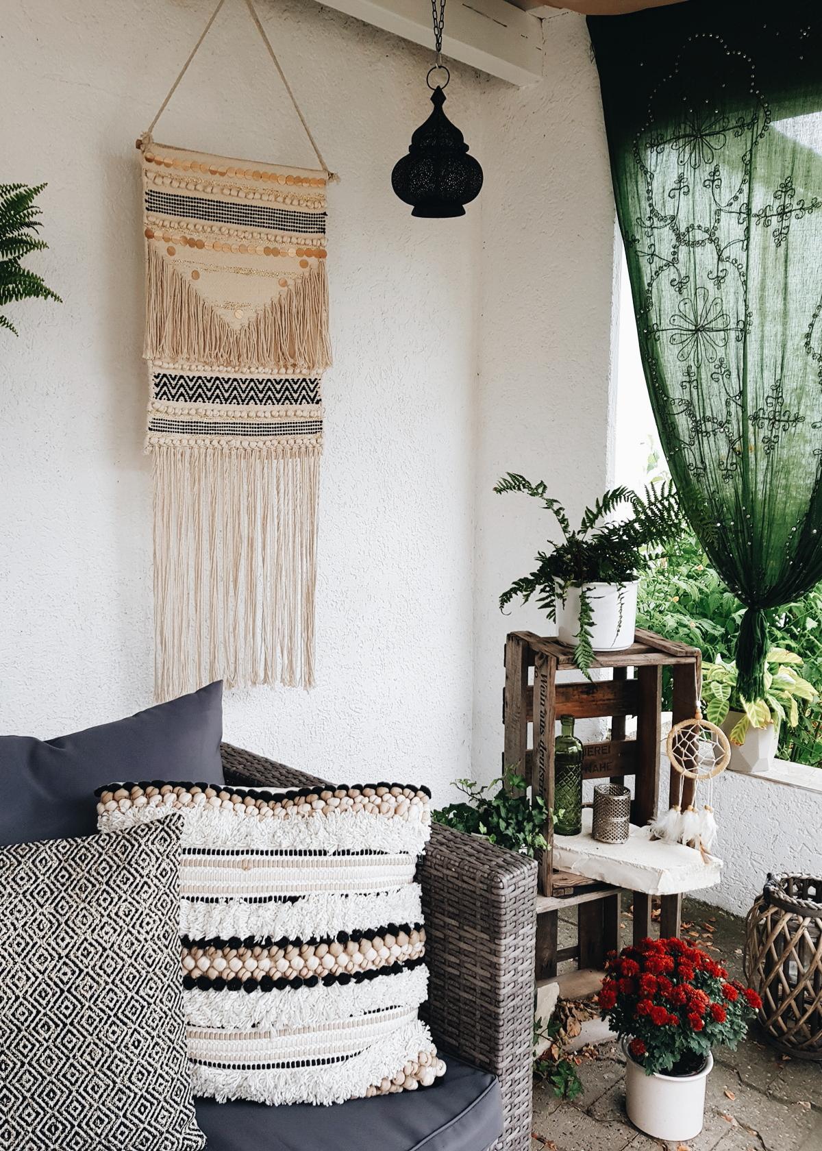 Geknüpfter Wandteppich Maison Du Monde Veranda Hippie Boho Kissen